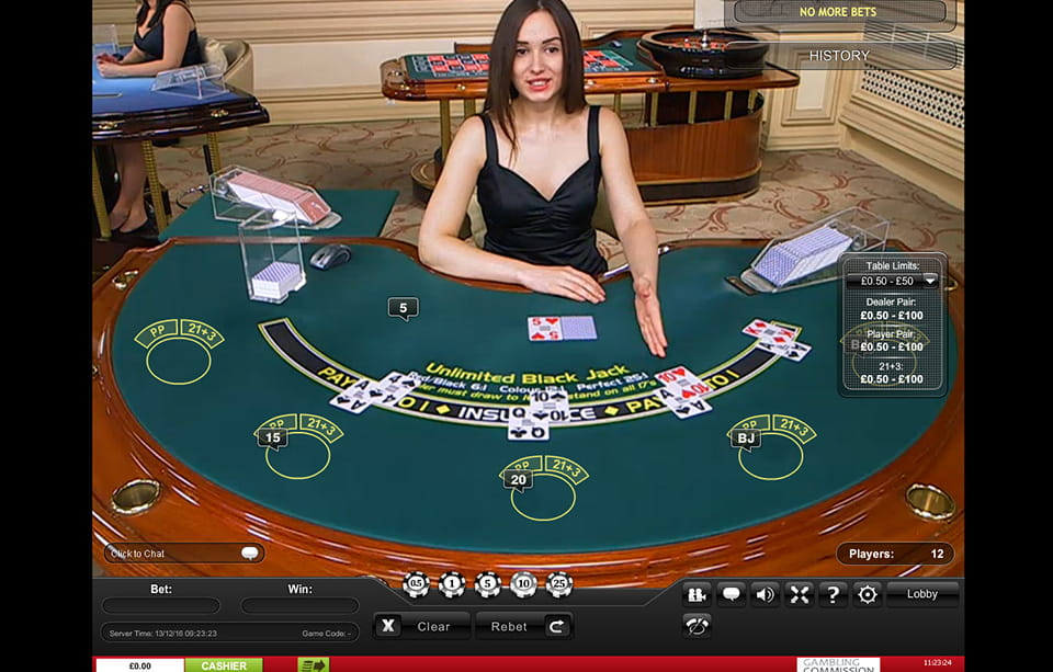 Play Live Unlimited Blackjack at Casino.com Canada